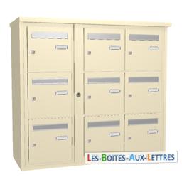 bloc 9 cases boites aux lettres