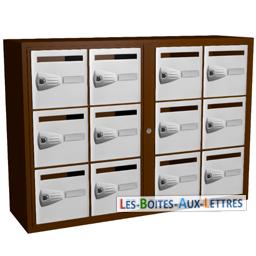 12 boites aux lettres collectives