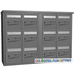 boites aux lettres collectives 12 cases