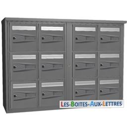 boites aux lettres collectives 12 cases